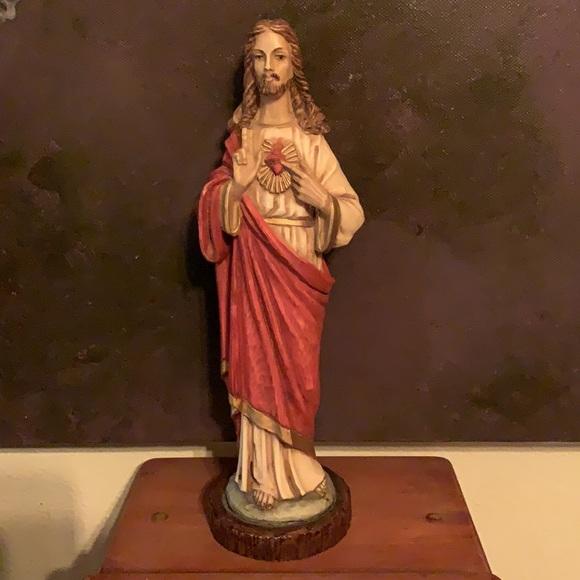 Savior Jesus Christ Hand Painted Resin Statue